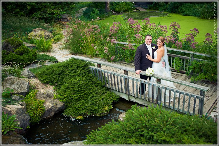 beautiful outdoor wedding at olbrich gardens in madison, wisconsin