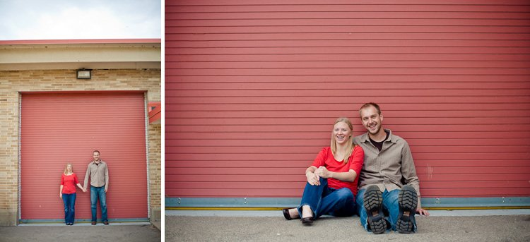fun engagement session in downtown madision by madison wedding photographer andy stenz