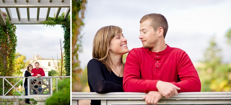 engagement photos at allen gardens on the uw madison campus in madison wisconsin - madison wedding photographer andy stenz