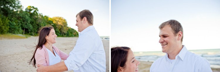 doctor's park lake michigan engagement session milwaukee wedding photography