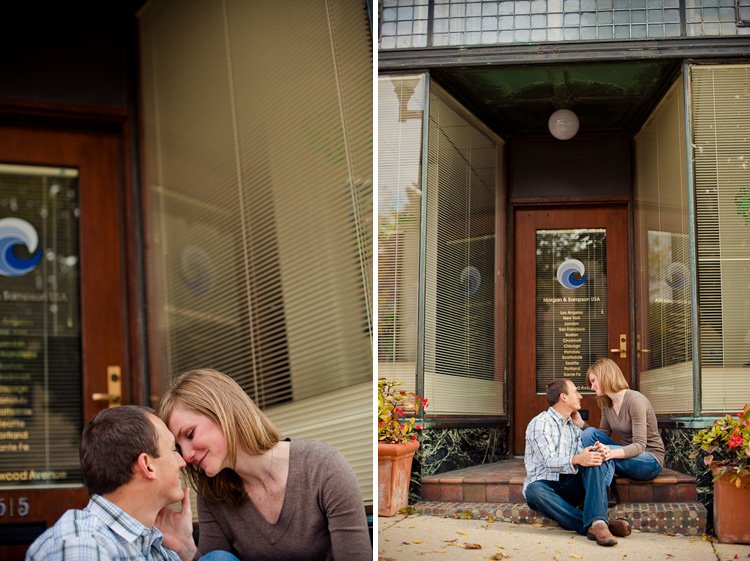 fun loving and intimate engagement session in wauwatosa hart park and downtown
