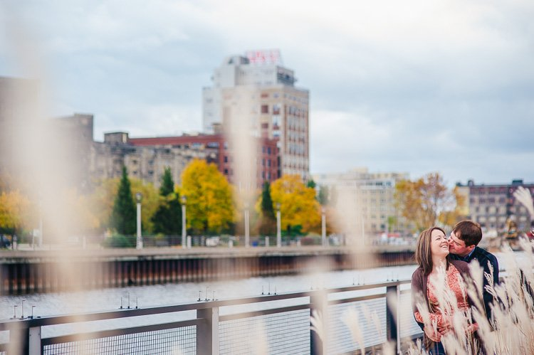jennifer and jesse's milwaukee packers and bears engagement session