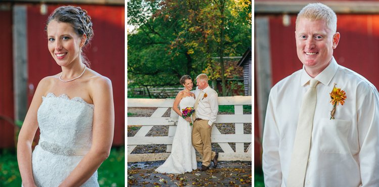 kassy and nick's family farm in mequon wedding