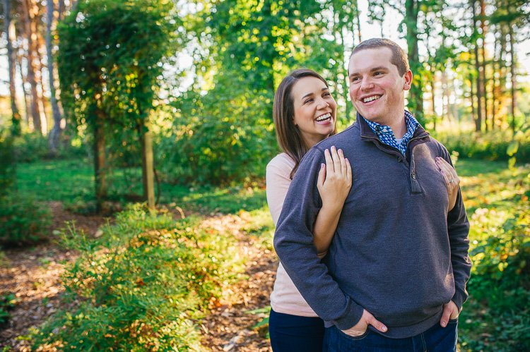 katie and keith's morton arboretum engagement session