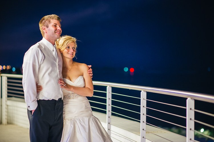 ashley and steve's pier wisconsin milwaukee lakefront wedding