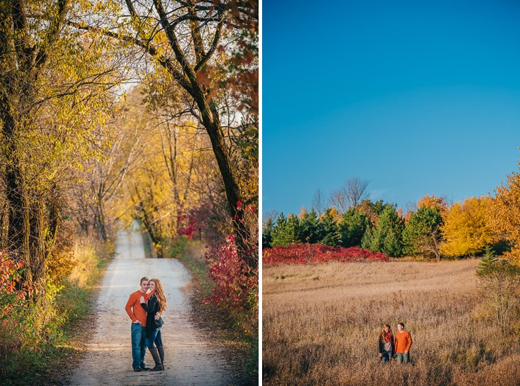 bridget and kyle's engagement session near holy hill