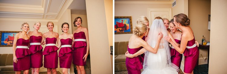 elizabeth and chris's milwaukee wedding - getting ready at the pfister