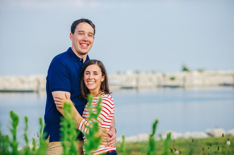 kristin and carl's engagement session at marquette and the milwaukee lakefront