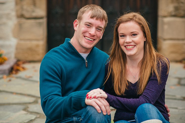 megan and ryan's marquette university engagement session in milwaukee