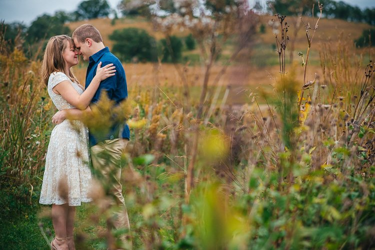 brittney and caleb's madison engagement session at pheasant branch middleton wi