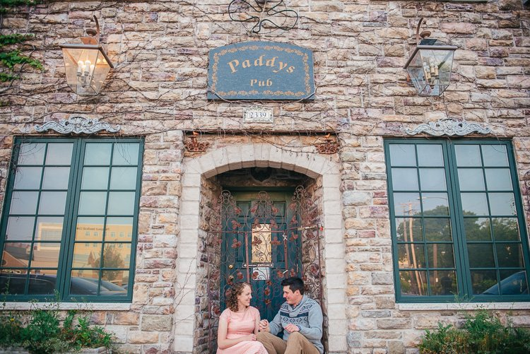desiree and tim's milwaukee engagement session at paddy's pub
