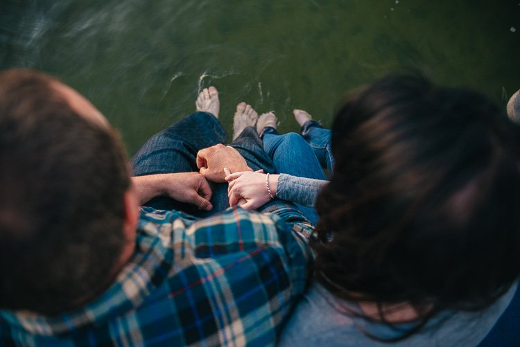 sara and kevin's northwoods wisconsin beloved engagement session