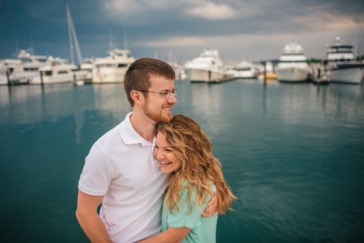 engagement session on yacht on lake michigan near chicago - stephanie and ben - andy stenz