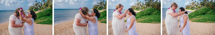 jess and sonya's beachfront wedding honolulu hawaii lgbt