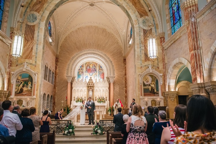 megan and kyle's holy hill basilica wedding