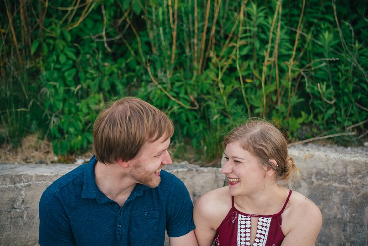 rachel and maximilian shorewood atwater lakefront beergarden milwaukee engagement session